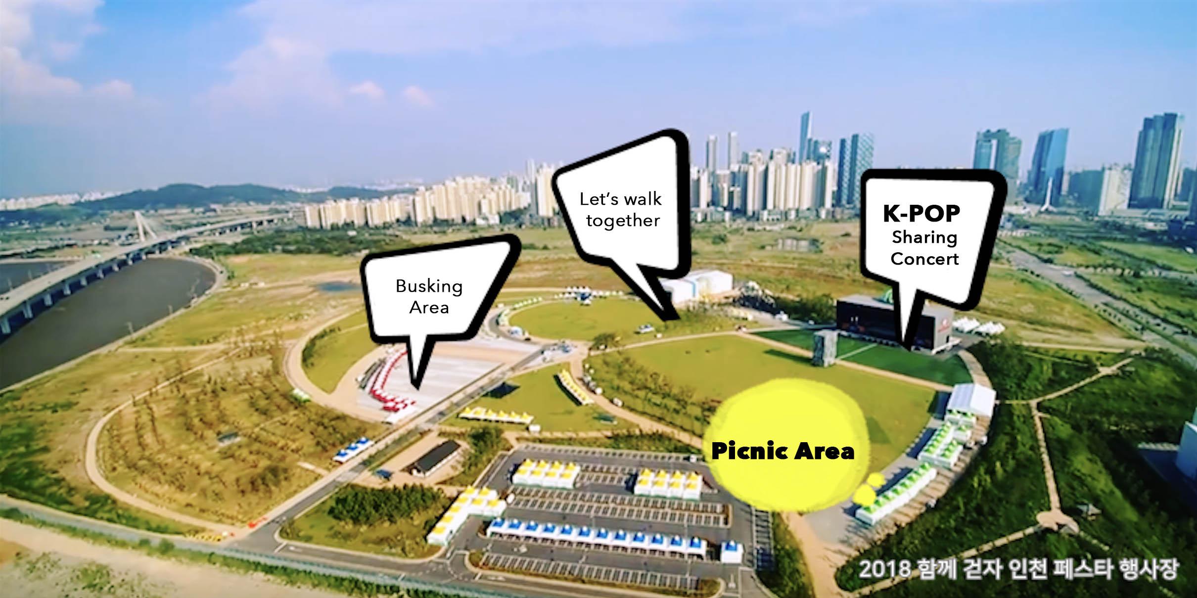 2018 Let's walk together, Incheon Festa map